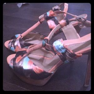 Aldo platform spring sandals shoes 9 39